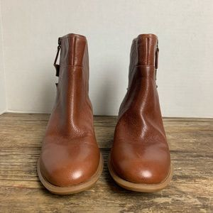 Nine West Just This Caramel Tan Buckle Booties 7